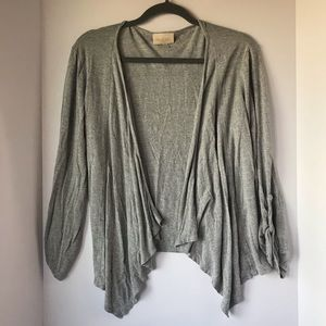 ModCloth | Gray Open Front Waterfall Cardigan, S